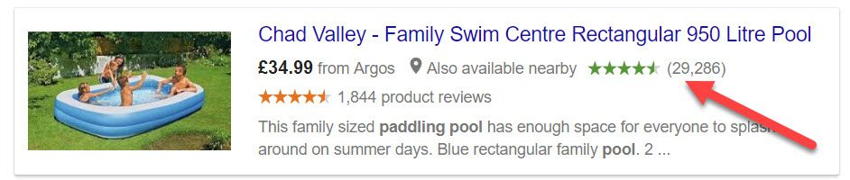 Google Shopping search result for Argos product