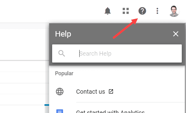 Google provides lots of support options within the Google Analytics interface.