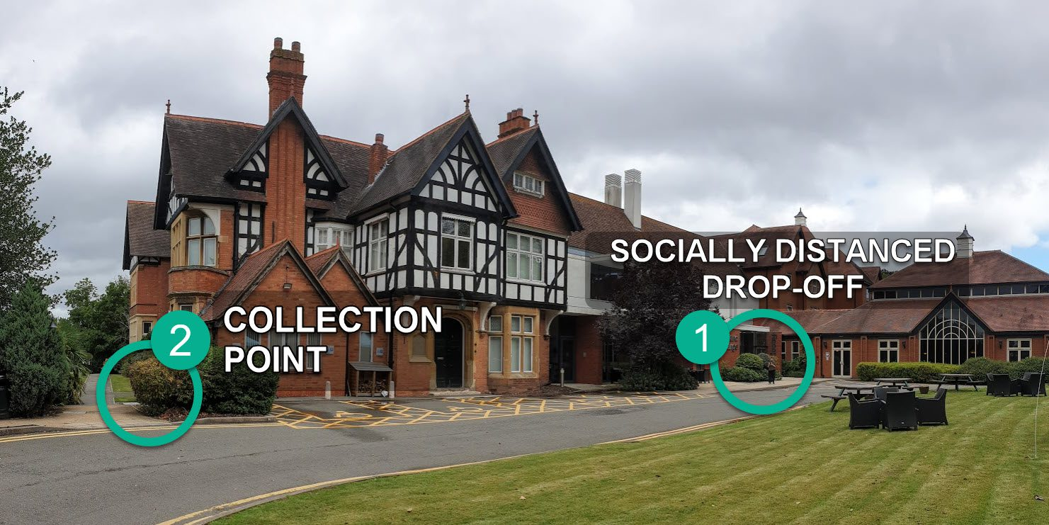 Drop off and Collection point for Eclipse Dance at Woodland Grange Hotel - Leamington and Kenilworth