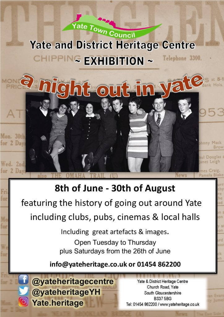 Poster - a night out in Yate 8 June to 30 August