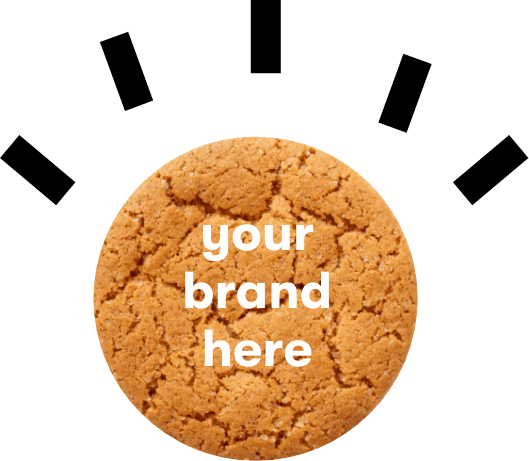 Your clients brand on a prmo branded tube filled with sweets or biscuits