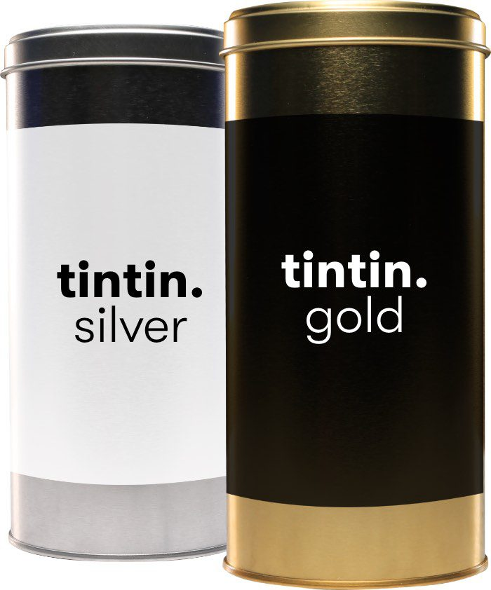 Tintin Silver and Tintin Gold Promo Branded Tubes with Confectionety